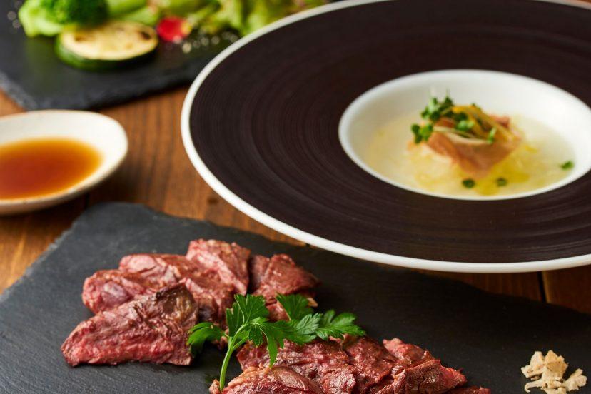 【ランチコース】    牧草牛ハラミステーキ