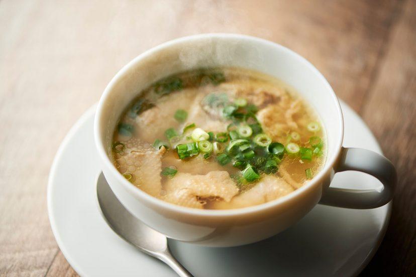 鶏皮ぽんずスープ